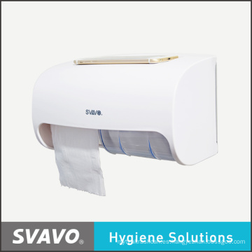 Dispensador de papel con doble rollo de gran capacidad