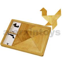 Tangram de madera hecho de madera de goma (80560)