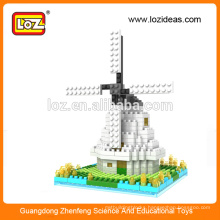 LOZ Windmill diamond miniature architecture models, building set