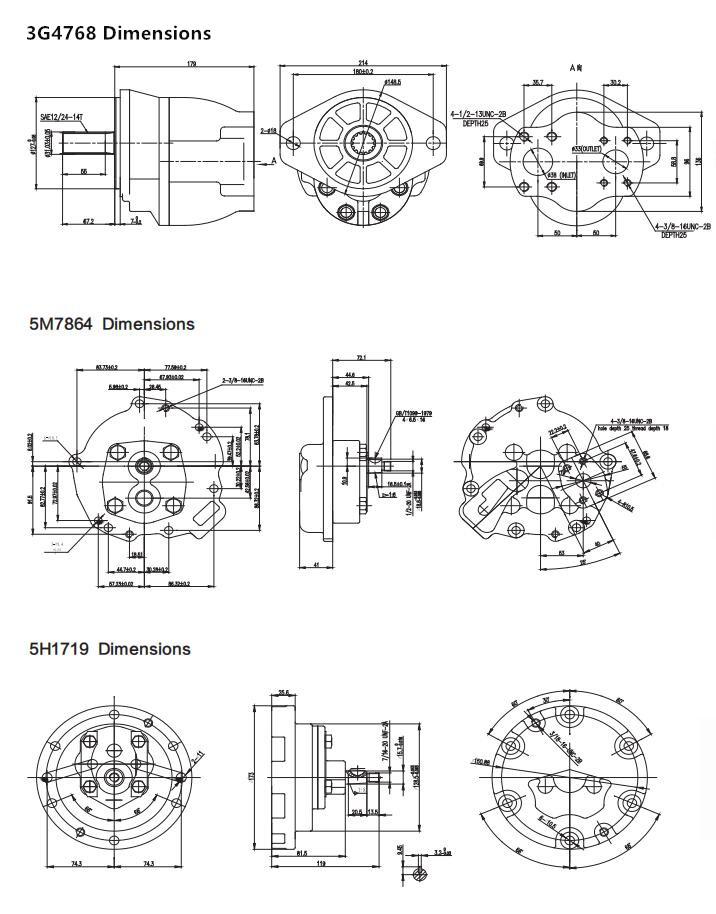 Cat pumps Dimensions-3