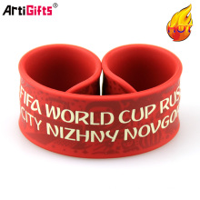 Cheap Custom Silicone Slap Bracelet for Promotional