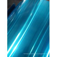 material de aleta de aluminio de color azul con revestimiento hidrófilo utilizando aire acondicionado