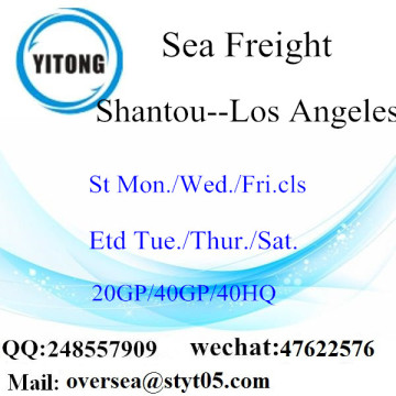 Expédition de fret maritime de port de Shantou à Los Angeles