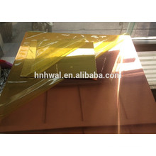 Golden color coated mirror aluminum coil for decoration