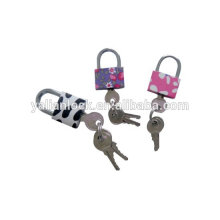 Arc pin type color iron padlock