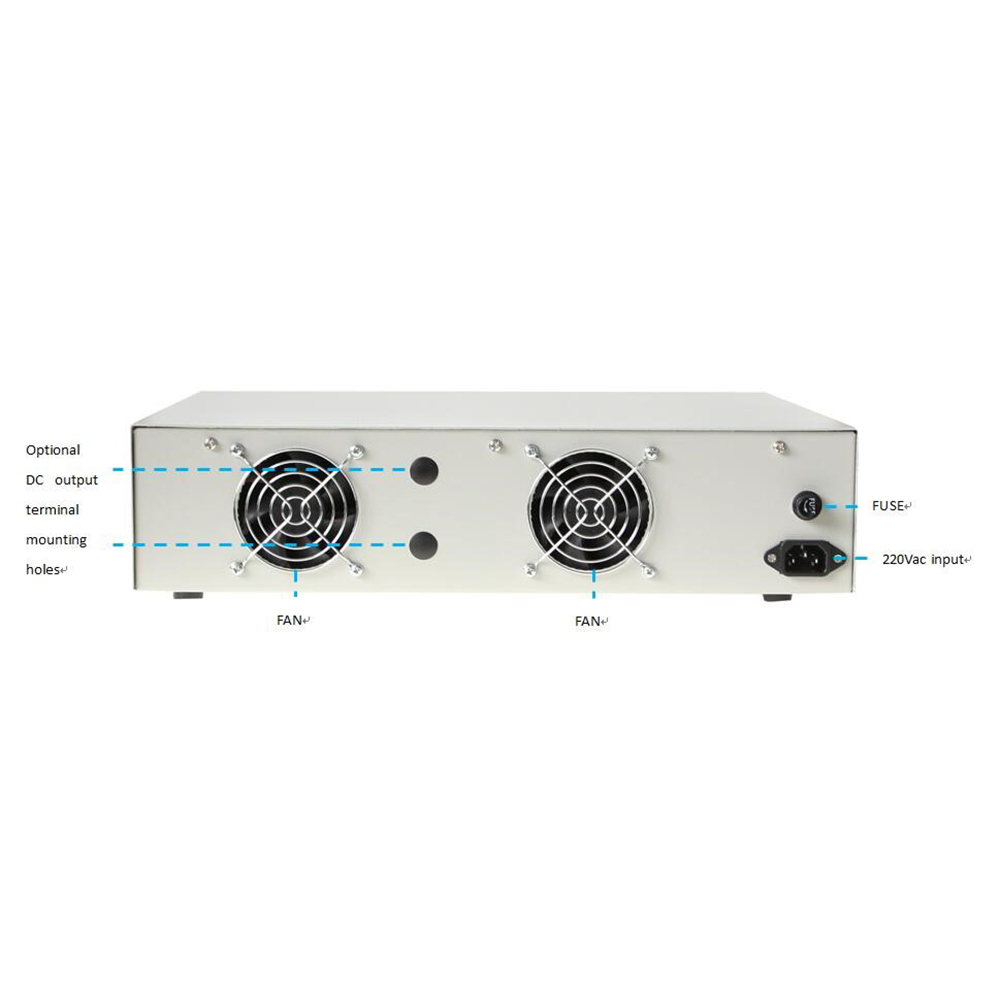 Smp 4000 Benchtop Dc Power Supply Back Panel Instruction