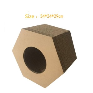 Super Lowest Price for Hexagon Model Cattery Scratching Board,Hexagonal Bowl Cat Scratcher,Hexa-Scratch Cat Scratcher Suppliers in China Corrugated Cat Scratcher toy supply to Canada Manufacturers