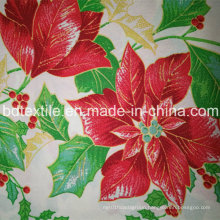 Flower Design for Table Cloth Polyester Mini Matt Printed Fabric
