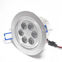 huerler AC85-265v 90-100lm/w 95mm round 6w led downlight