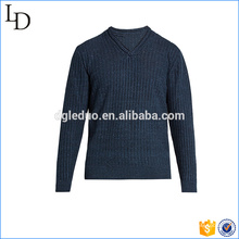 Europe v neck sweater knit style soft acrylic material for men