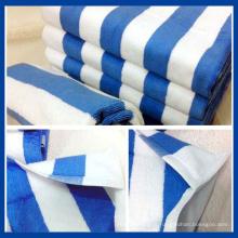 100% algodão listrado toalha de rosto (qhf88981)