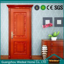 Porte de panneau de peinture ignifuge extérieure en bois solide