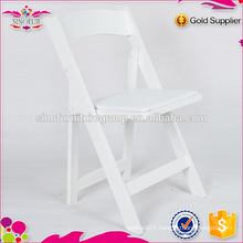 white outdoor wedding plastic folding chair in high quality