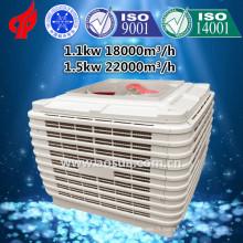 Refroidisseur d'air à évaporation industriel à l'intérieur de toit