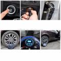 Pompe à air de pneu, pompe électrique 150PSI de compresseur d'air portatif de 12V avec la pompe gonflable de véhicule de jauge pour des voitures, camions