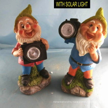 Polyresin Garden Decoration Camera Dwarf W. Solarlight
