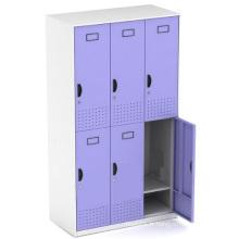 Six portes Kd Steel Structure Metal Storage Locker