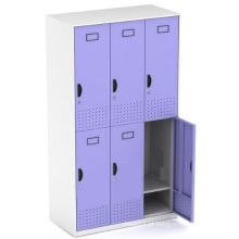 Six Doors Kd Steel Structure Metal Storage Locker