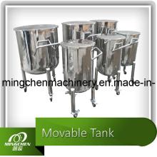 Nouveau! Réservoir de stockage en acier inoxydable 100L-20000L avec roulettes mobiles