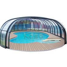 Toit de piscine mobile à enceinte rigide en aluminium