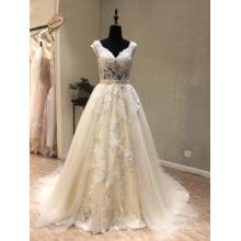 Perles de dentelle sur mesure robe de mariée mariée enceinte