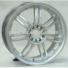 17x7 18x8.5 4x100 5x100 deep dish silver alloy wheels