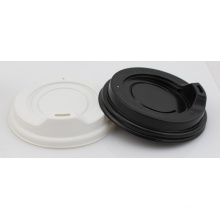 White Black Plastic Cup Travel Lid