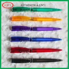 Hot selling colorful barrel ball pen