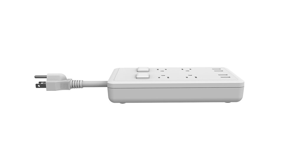 American Power Strip with 4 USB Ports
