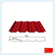 Placa de metal pré-fabricada padrão GB para telhado ou parede
