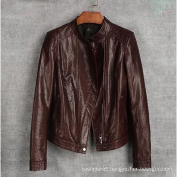 New Women′s Genuine Sheep Leather Jacket