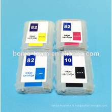 Pour HP Designjet 500 800 traceurs Cartouche d'encre pour HP 10 82 avec puce permanente