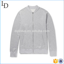 Grey color with clients logo mens spring jacket hooded nice jacket