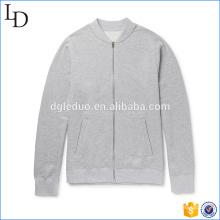 Cor cinza com clientes logotipo mens jaqueta primavera com capuz jaqueta agradável