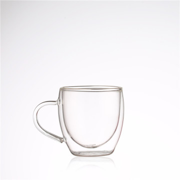 200ml Heat-resistant Double-layer Handle Glass Cup