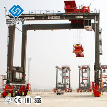 High Quality Rubber Tyre Container Straddle Carrier 40t Used in Port