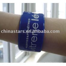 Bracelete reflexivo em cores sortidas e logotipo personalizado