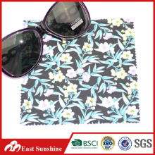Eco-friendly Microfiber 80%polyester 20% nylon Fabric with Digital Printing for Glasses Cleaning