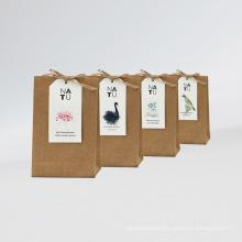 scented paper sachet in kraft bag customizable logo