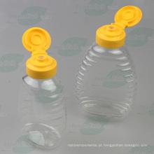 250g garrafa de plástico espremer mel com tampão de válvula de silicone (PPC-PHB-79)