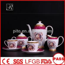 P & T Porzellan Fabrik Knochen China Tee-Set, Kaffee-Set, Kaffeetassen & Untertassen