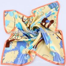 2014 Новый дизайн ручной печати небольшой шелковый шарф китайский шелковый шарф оптовой