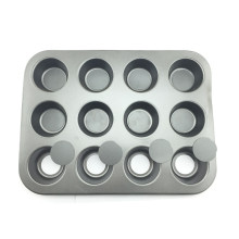 Антипригарная 12 чашек съемная нижняя сковорода для маффинов