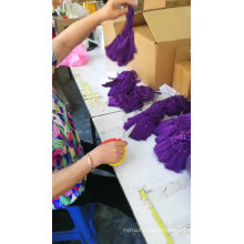 9cm polyester purple tassel for zipper decoration