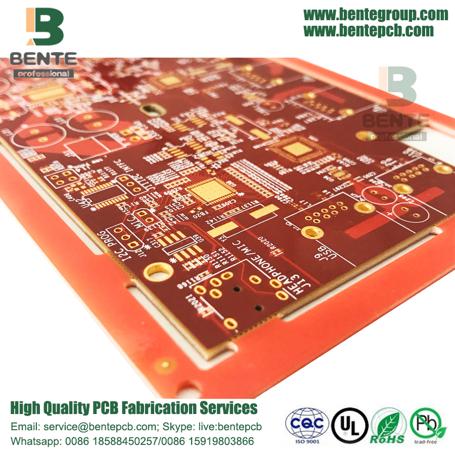 IT180 Multilayer PCB Dickes Gold 6 Schichten PCB ENIG 3U ""