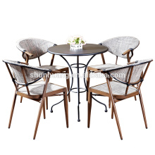 promotional outdoor garden furniture dining sets teslin dining chair