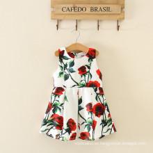 Venta al por mayor mujeres adultas mamá y niños a granel a granel de impresión de moda de algodón vestido de niña de las flores