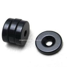 D20X5 Black Epoxy Coating N38 Ring Magnet