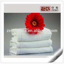 High Quality Plain Woven Fabric Atacado Toalha de rosto de algodão branco