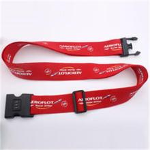 Red Polyester Sublimation Personalised Luggage Straps